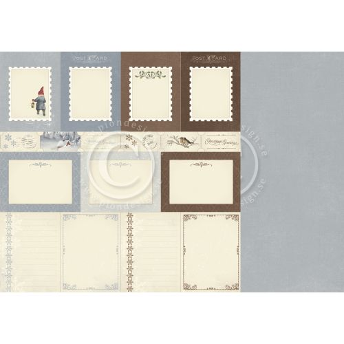 PIO Cardstock - Greetings from the North Pole Memory Notes