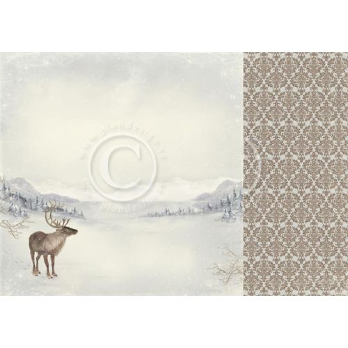 PIO Cardstock - Greetings from the North Pole Santas Reindeer