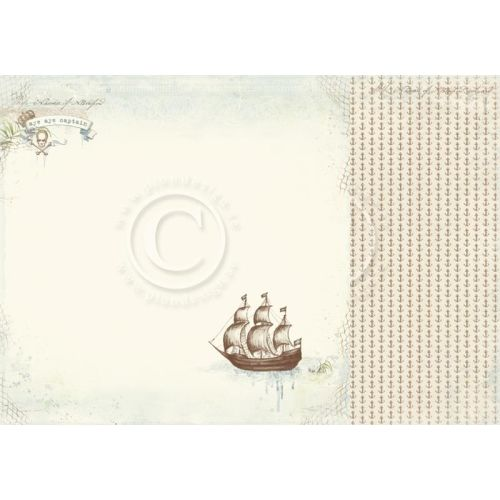 PIO Cardstock - Legends of the Sea Aye aye Captain