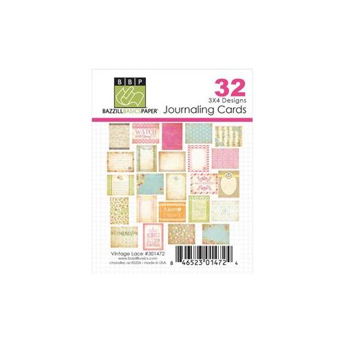 BAZ Journaling Cards 3x4 - Vintage Lace