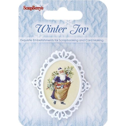 SCB Embellishments - Metal Frame Winter Joy