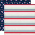 CTB Cardstock - Ahoy There Nautical Stripe