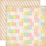 CTB Cardstock - Baby Mine Girl Alphabet Soup