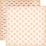 CTB Cardstock - Baby Mine Girl Dots