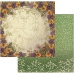 COC Cardstock - Hearts Ease Pansy Bouquet