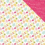 PTP Cardstock - Happy Easter Coloured Eggs