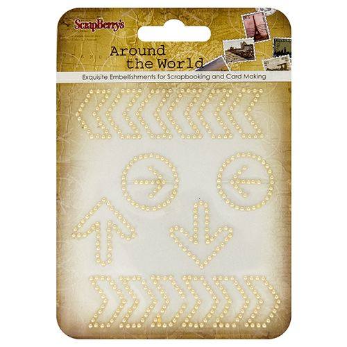 SCB Embellishments - Curls Around the World Cream