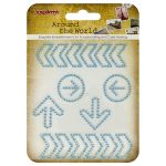 SCB Embellishments - Curls Around the World Blue