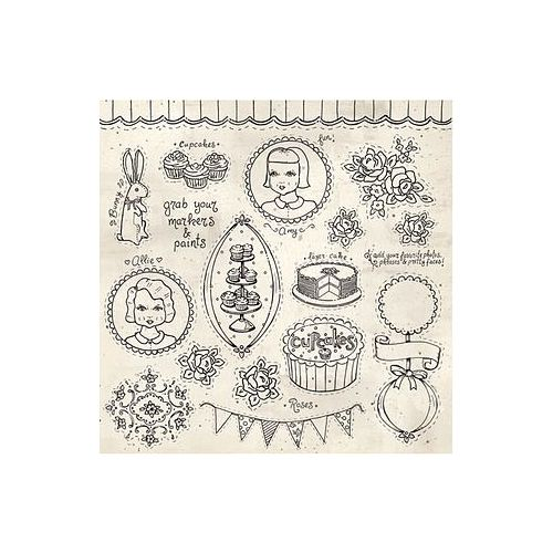 MFR Cardstock - The Sweet Life Mixed Media Doodles