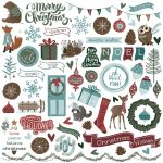 PTP Sticker12x12 - Winter Meadow Elements