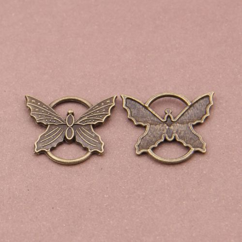 SRH Charm 3 Stück - Schmetterling/Butterfly Antique Bronze