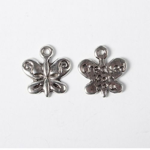 SRH Charm 5 Stück - Schmetterling/Butterfly Created for You Antique Silber