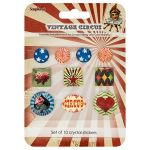 SCB Crystal Sticker - Vintage Circus