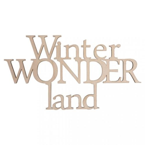 RYH Embellishment - Holzschrift Winter Wonderland
