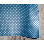 SRH Cotton Leather/Baumwoll-Papier - Teal mit Goldenen...
