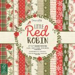 TRC Paper Pad 12x12 - Dove Craft Little Red Robin