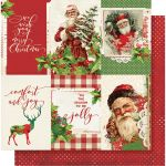 SST Cardstock - Simple Vintage Christmas 4X6 Vertical...