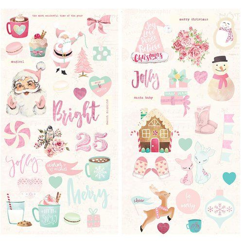 PRM Chipboard Sticker - Santa Baby