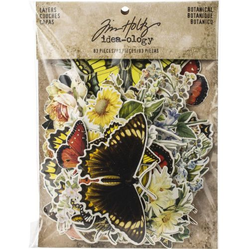 THZ Tim Holtz Ephemera - Idea-Ology Layers Die Cuts Botanical
