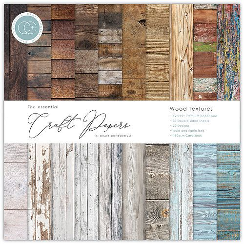 CFC Paper Pack 12x12 - Wood Textures