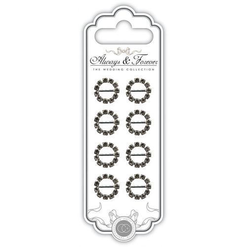 CFC Embellishments - Small Circle Rhinestone Buckle