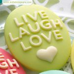 WBP Embellishment - Cameo Live Laugh Love