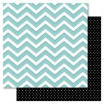 RRI Cardstock - Bella! New York Chevron