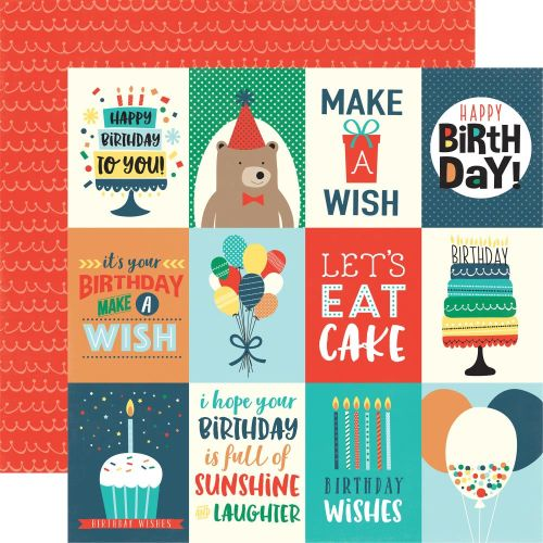 ECP Cardstock -  Happy Birthday Boy Journaling Cards 3x4