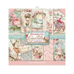 STP Paper Pad 8x8 - Pink Christmas