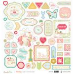 WBP Chipboard Sticker Board12x12 - Growing Up Girl
