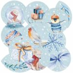 P13 Embellishment - Round Tags North Pole