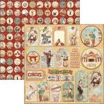 CBL Cardstock - The greatest Show Circus Tags