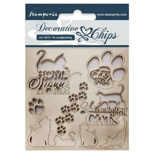 STP Decorative Chips/Laserstanzteile - Cats